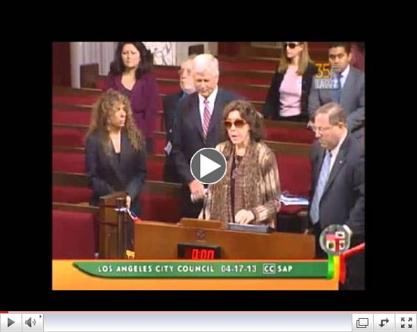 LA City Council Honors Pat Derby
