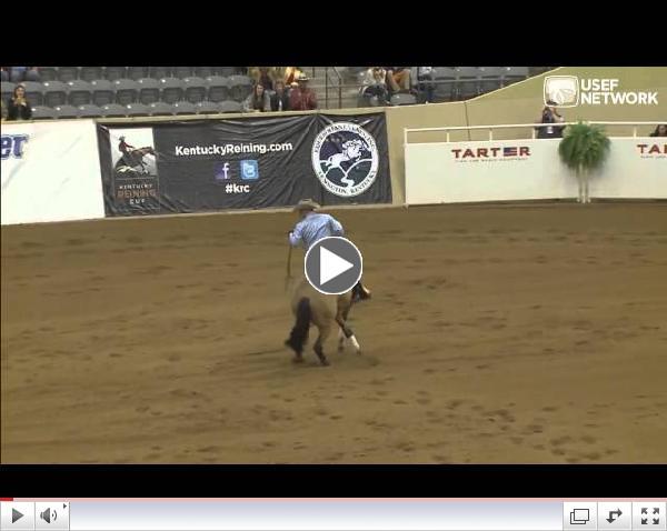 Shawn Flarida & Wimps Quixote Cody - 2013 Kentucky Reining Cup CRI3* Winners
