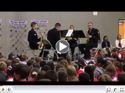 US Navy Sax Quartet play