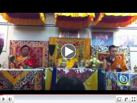 Initiation offered by H.H. Jigdal Dagchen Sakya at Maha Sandhi Yoga Center (11/10/12)