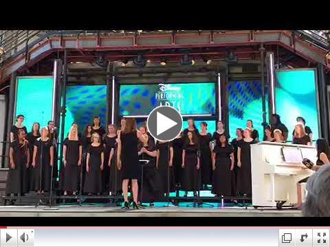Advanced Chorale Performs at Disneyland