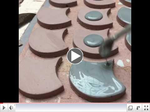 Glazing Peacock Tiles