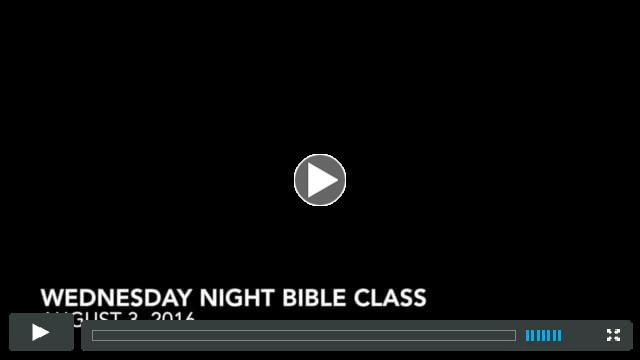 Bible Study 8.3.16