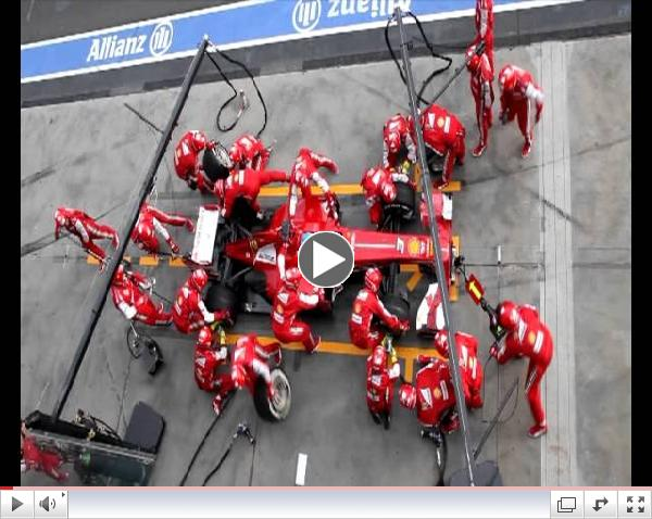 Ferrari F1 Pit Stop Perfection - Very fast!