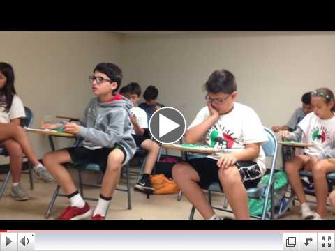 Class Time - Tombola - Summer Camp, Day 15 - July 14, 2017 - Video 2