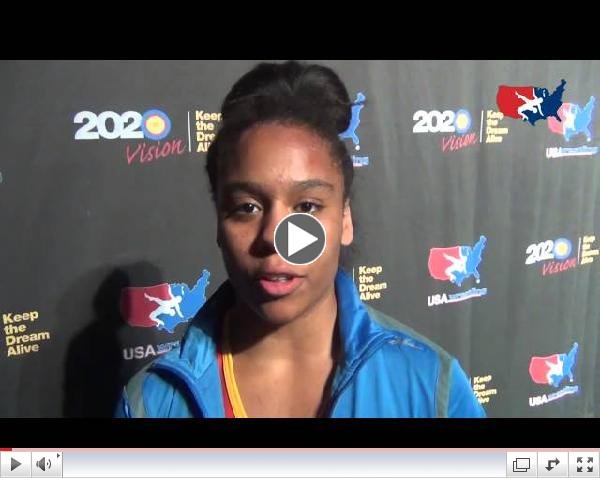 Maya Nelson wins 2013 Women's Freestyle Cadet Nationals