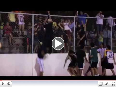 Soccer Freestyle World Champion Sean Garnier disguised as old man wows crowd