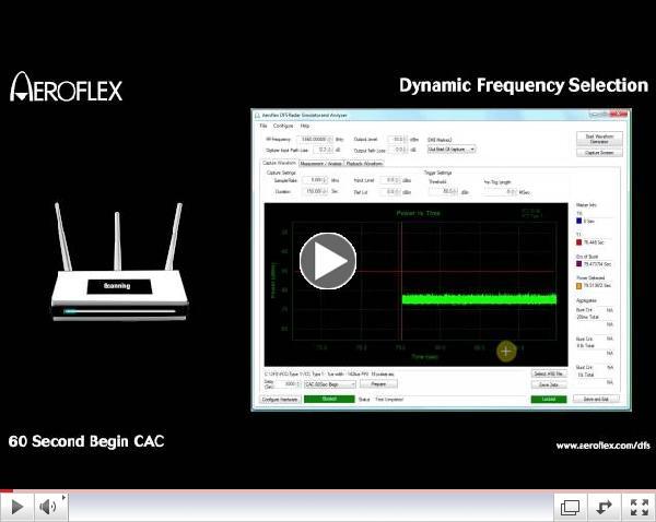 Aeroflex Dynamic Frequency Selection Testing