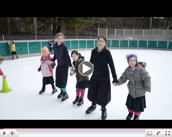 Shushan Purim Ice Skating