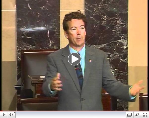 Sen. Rand Paul Speaks Out - 6/29/12