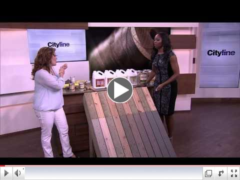 Staining Your Deck with Benjamin Moore Arborcoat from Sharon Grech and Cityline