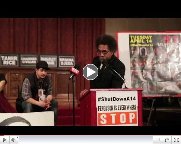 cornel west calls for protest on 4:14:15