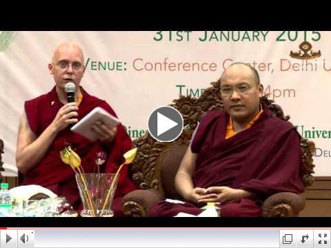 The Gyalwang Karmapa Gives a Dharma Talk at Delhi University