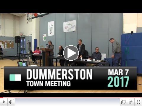 Dummerston Town Meeting