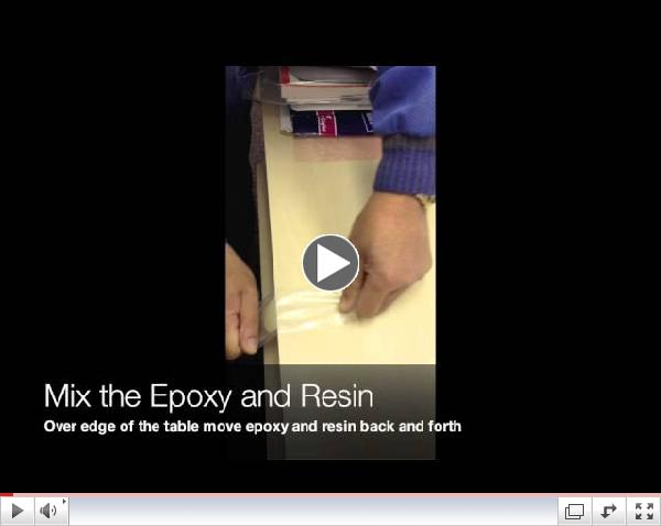 Epoxy Burst Bag Usage Demo