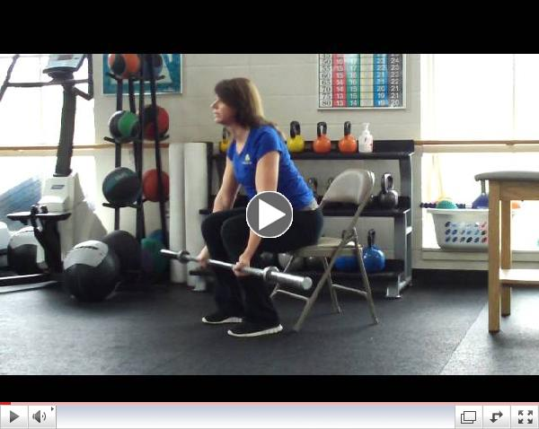 Fitness Pointe Chair Deadlifts