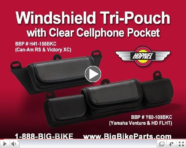 Windshield Pouches with Clear Cellphone Pocket by Hopnel