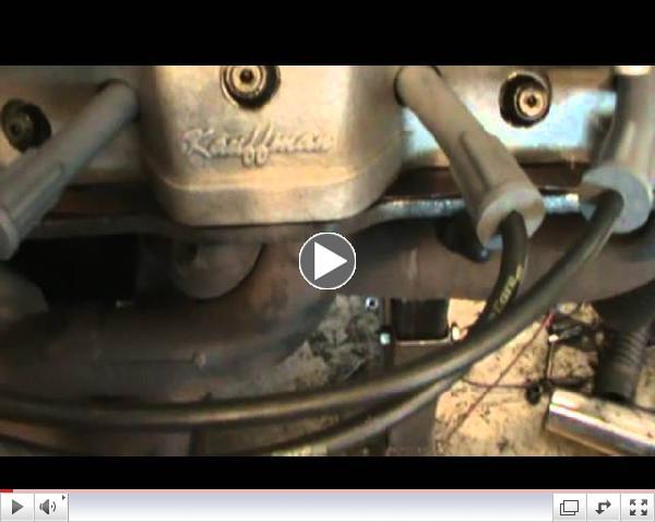 Mark Billings 650 horse 461 cid pontiac engine warm up on dyno