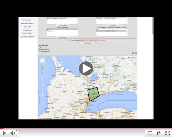 Set registration boundaries with Google Maps