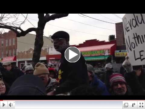 Carl Dix Speaks at Kimani Gray March 24 Protest in Brooklyn