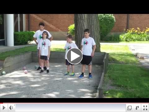 Casa Italia Italian Language & Culture Summer Camp, Day 1, June 19, 2017 Bocce Practice 2