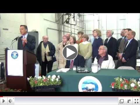 Governor Shumlin at Working Lands Bill Signing