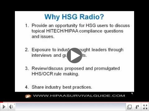 HIPAA Survival Guide Blog Talk Radio Overview