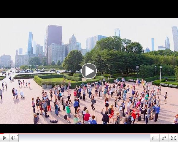 Viviana's Chicago Flute Flash Mob (feat. drone video footage)