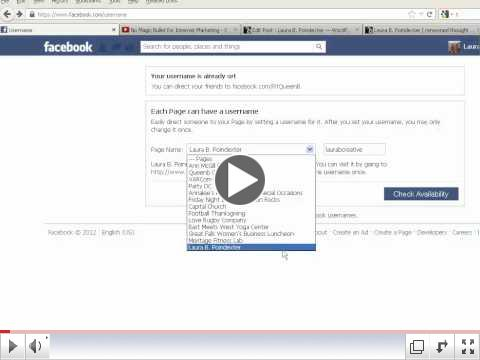 Setting Facebook Custom URL