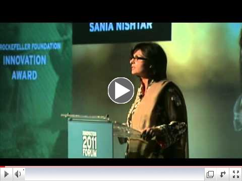 The Rockefeller Foundation Innovation Forum:  Dr. Sania Nishtar Accepts Innovation Award