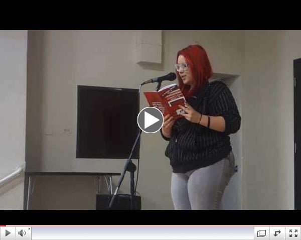 Alanah performing at La Academia's showcase w/ Cafe Cultura || Spoken Word