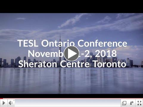 TESL Ontario 2018 Annual Conference