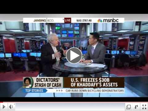 JEFFREY ROBINSON ON HOW GADDAFI  HIDES HIS MONEY - MSNBC
