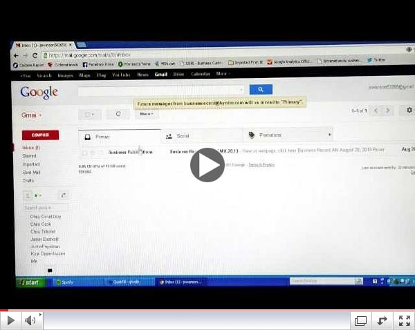 Adding Business Record Daily to Gmail's primary tab