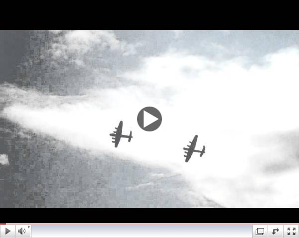 Bomber Tour 14 - 2 Lancaster Bombers fly together for the first time in 50 years!!