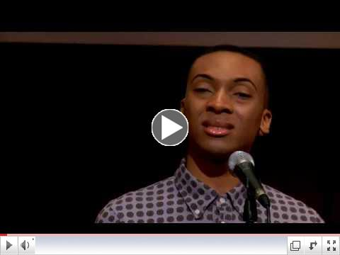 State Champion Amos Koffa performs Let the Light Enter by Frances Ellen Watkins Harper: