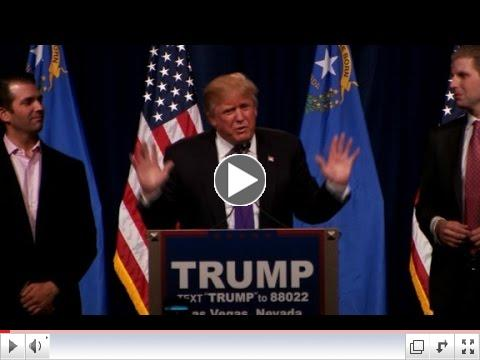 Donald Trump Nevada Victory Speech