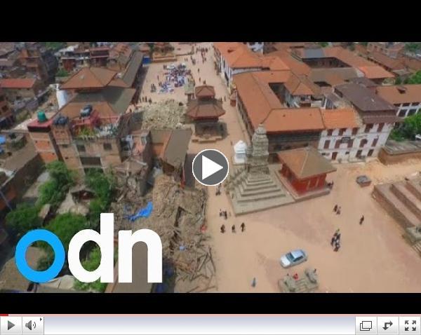 Aflei�ingar jar�skj�lftans � h�fu�borginni Katmandu/ ODN
