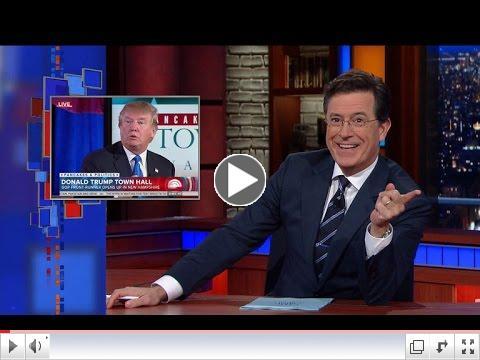 Steven Colbert Challenge to Donal Trump