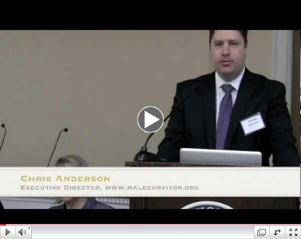 Chris Anderson speaks at Stop Abuse Campaign Congressional Briefing