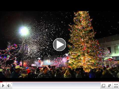 The Annual Christmas Tree Lighting on Main Street, Fallon.