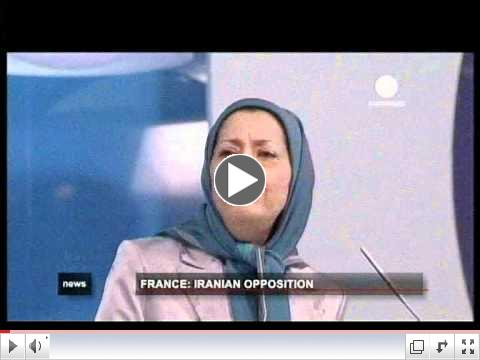 Euro News French - Iranian gathering june 23 2012 Villepinte Paris
