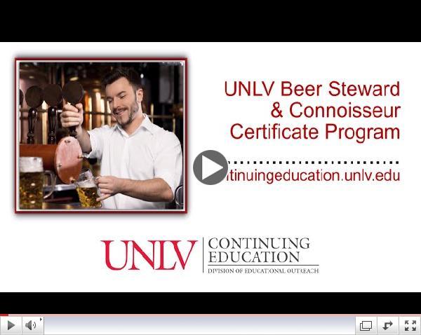 UNLV - Beer Steward & Connoisseur Certificate
