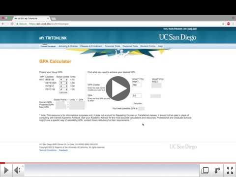 TritonLink GPA Calculator Tutorial
