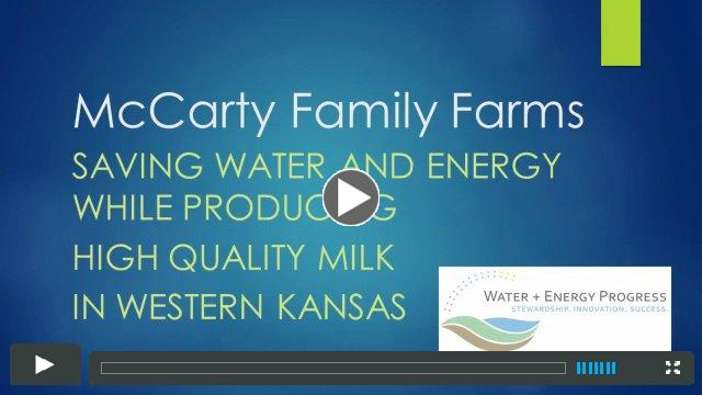 McCarty Family Farms save water and energy while producing high quality milk in western Kansas