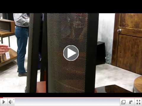 Martin Logan Shows Off New Masterpiece Series of Electrostatic Hybrid Speakers