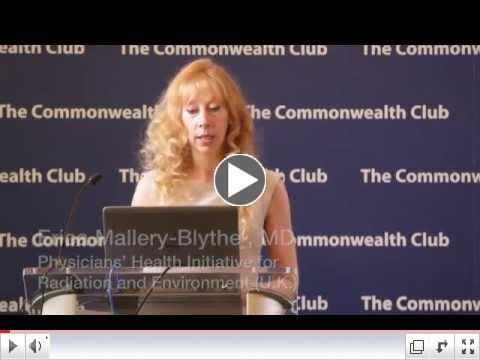 Dr. Erica Mallery-Blythe, MD at the Commonwealth Club of CA, June 2015