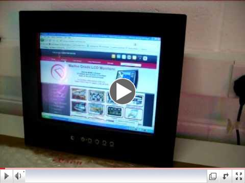 IP65-Sealed Panel Mount Monitor Demonstration