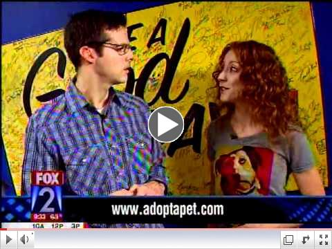 Adopt-a-Pet.com on Fox2 Morning Show with Tim Ezell