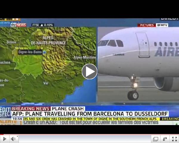 Search For Survivors After French Plane Crash